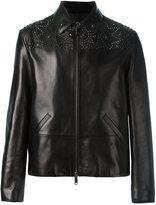 Valentino studded jacket - men - Lamb Skin/Lyocell/Cotton - 46