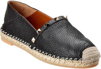 Valentino Rockstud Leather Espadrille