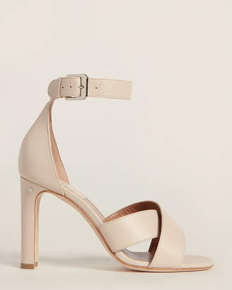 Laurence Dacade Nude Ankle Strap Leather Sandals