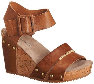Antelope Leather Wedge Heel Sandal