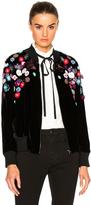 Tanya Taylor Embellished Velvet Rachel Bomber