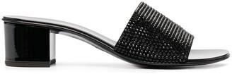 Giuseppe Zanotti Embellished Block Heel Sandals