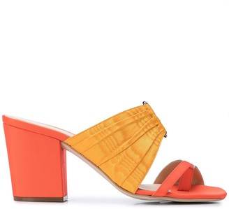Rosie Assoulin Pleated Funky Toe Mules