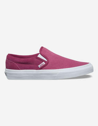 Vans Suede Canvas Classic Slip-On Wine Womens Shoes