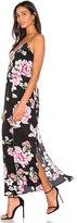 Yumi Kim Cross It Off Maxi Dress in Black. - size L (also in M,S,XS)