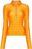 Supriya Lele Madras plaid skinny shirt