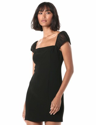 BCBGeneration Women's Cocktail Shirred SLV Woven Dress