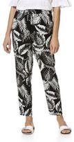 F&F Monochrome Leaf Print Tapered Trousers, Women's