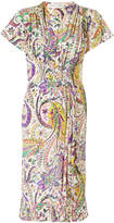 Etro floral print gathered dress