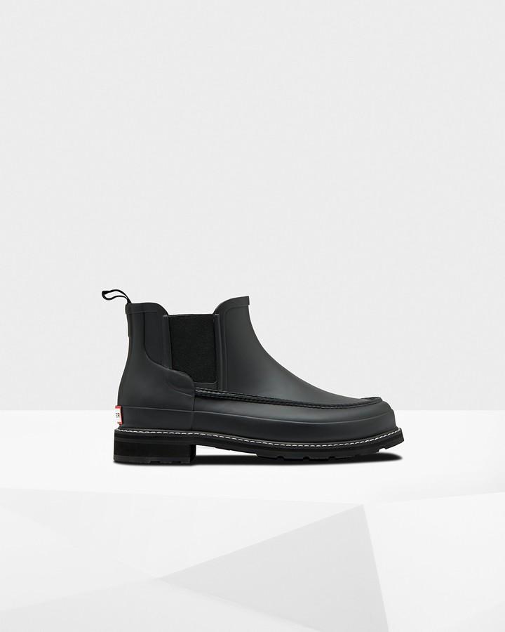 Hunter Men's Refined Moc Toe Chelsea Boots