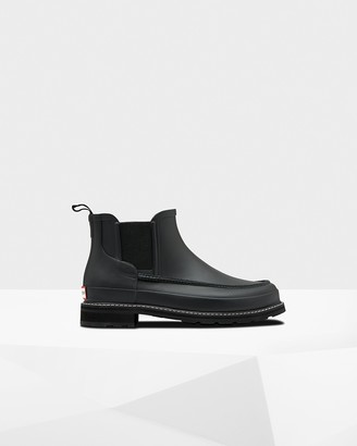Hunter Men's Refined Moc Toe Chelsea Boots