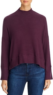 Red Haute Mock Neck Cropped Sweater