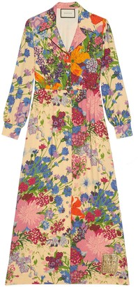 Gucci Ken Scott print viscose dress
