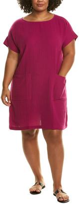 Eileen Fisher Plus Lofty Gauze Shift Dress