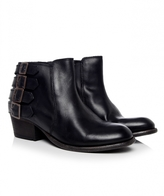 H By Hudson Leather Encke Buckle Boots