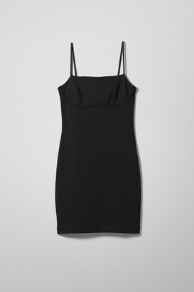 Weekday Hailey Strap Dress - Black