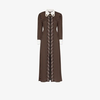 Chloé Retro Printed Midi Dress