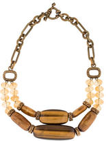 Stephen Dweck Citrine, Tiger's Eye & Golden Coral Necklace