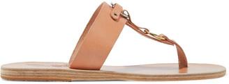 Ancient Greek Sandals Simple Evia Embellished Leather Sandals