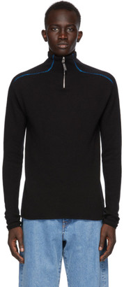 Sunnei Black Cashmere Zipped Sweater