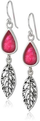 Barse Sterling Silver and Red Onyx Linear Drop Earrings