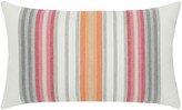 Elaine Smith Stripe Lumbar Sunbrella Pillow, Orange