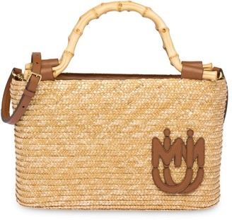 Miu Miu Straw And Bamboo Handbag