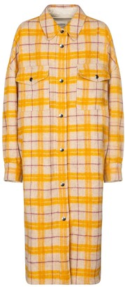 Etoile Isabel Marant Fontia checked wool-blend coat
