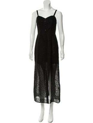 Olivier Theyskens Silk Midi Length Dress Black