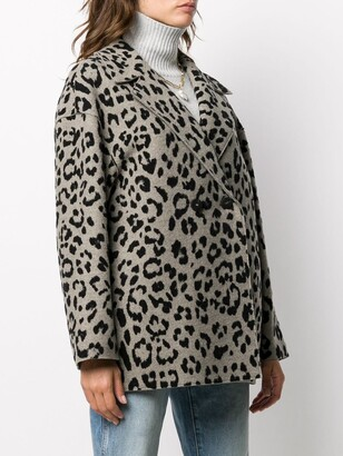 Harris Wharf London Animal-Print Double-Breasted Coat