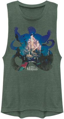 Licensed Character Juniors' Disney The Little Mermaid Ursula Silhouette Muscle Tank