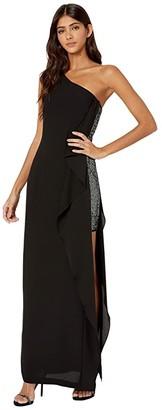 BCBGMAXAZRIA Eve Long Woven Dress (Black) Women's Dress