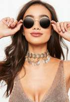 Missguided Quay Australia Gold Mod Star Sunglasses
