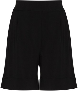 USISI SISTER High-Waisted Turn-Up Hem Shorts