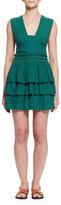 Isabel Marant Kali Sleeveless Ruffled Mini Dress