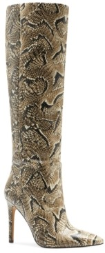 Vince Camuto Women's Fendels Wide-Calf Stiletto Boots Women's Shoes