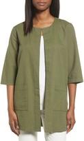 Eileen Fisher Organic Cotton Long Jacket