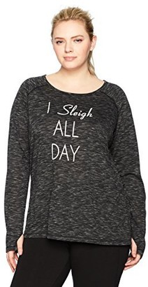 Shape Fx Women's Plus Size Performance Long Sleeve Tee