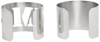 MM6 MAISON MARGIELA Silver Logo Bracelet Set