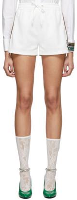 Gucci White GG Jersey Shorts