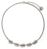 Anton Heunis Swarovski crystal leather charm necklace
