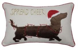 Pillow Perfect Spread Cheer Daschund Lumbar Pillow
