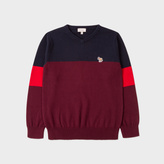 Paul Smith Boys' 7+ Years Colour-Block Cotton-Cashmere Zebra Logo Sweater