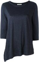 Stefano Mortari asymmetric top - women - Silk/Linen/Flax/Polyamide - 38