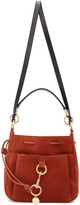 See by Chloe Red Large Suede Tony Bucket Bag