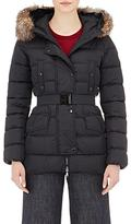 Moncler Women's Fur-Trimmed Down-Quilted Clio Coat-BLACK