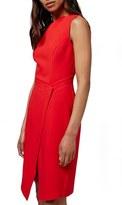 Topshop Faux Wrap Front Midi Dress