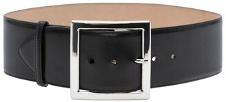 Alexander McQueen Square Leather Belt