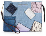 Marc Jacobs Denim Patchwork Clutch Pouch