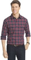 Izod Men's Classic-Fit Plaid Twill Performance Button-Down Shirt